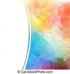 mosaico, arcobaleno, geometrico, fondo, colorito