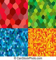 mosaico, azulejos, cantería, aleatorio, tessellation, ...