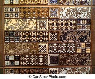 mosaico, ceramica, cucina, astratto, piastrella, modello