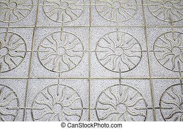 mosaico, chão
