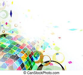 mosaico, coloridos, fundo