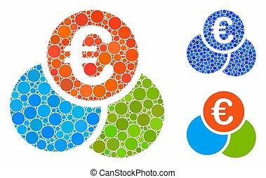 mosaico, icona, euro, articoli, spheric, finanze