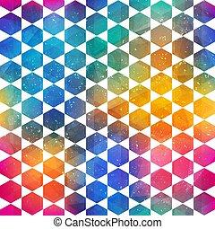 mosaico, modello, colorato, grunge, effetto