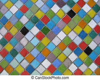 mosaico, multicolor