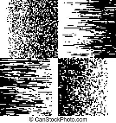 mosaico, pendenza, sfondi, pixelation, vettore, nero, pixelated, bianco, pixel
