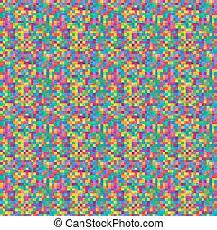 mosaico, pixel, seamlessy, repeatable, vivid-colourful, fondo, quadrato, modello, tegole