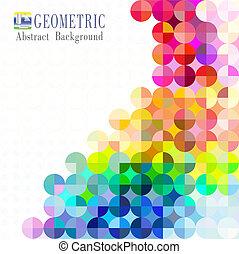 mosaico, plano de fondo, multicolor