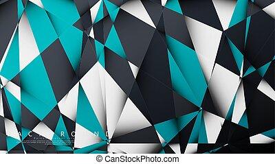 mosaico, plano de fondo, white., combinación, ilustración,...