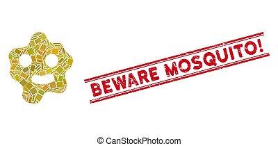 mosaico, tenga cuidado, watermark, mosquito!, líneas,...