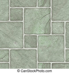 mosaico, verde, marble-stone