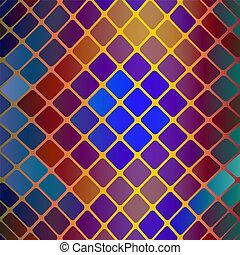 mosaico, vettore, vitrage, fondo