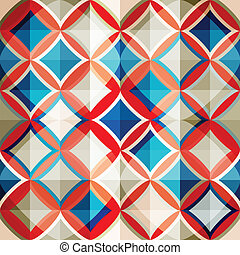 mosaico, vidrio, seamless, patrón