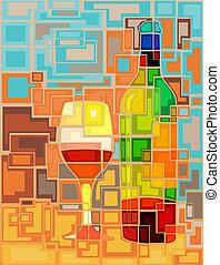 mosaico, vinho