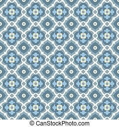 mosaicos piso, retro, patern