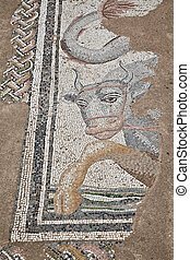 Mosaics at The Great Baths in Dion