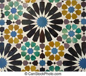 Mosaics in Alhambra palace, Granada, Spain