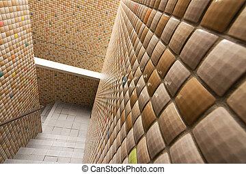 Dekoration treppe mosaik - Wand mit mosaik gestalten ...