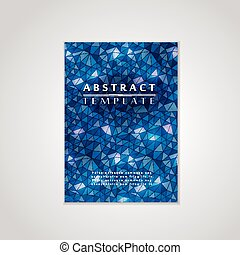 mosaik, blå baggrund, plakat, konstruktion