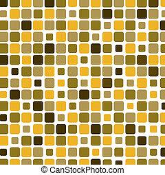 mosaik, firkantet, gul baggrund