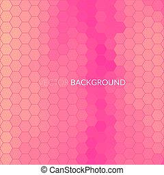 mosaik, sexhörning, bildpunkt, bakgrund, digital