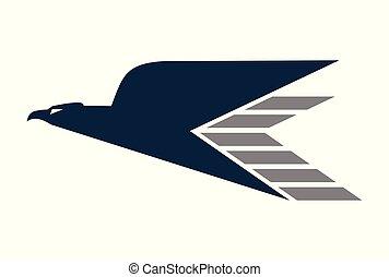 mosca, águia, expresso, rapidamente, logotipo