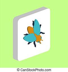 mosca, affari, simbolo, progetto, insetto, computer, tuo