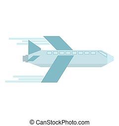 mosca, avión, viaje, transporte, geométrico