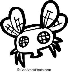 mosca, caricatura
