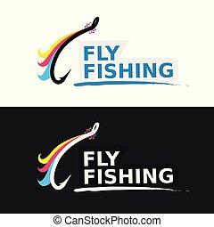 mosca, emblema, pesca