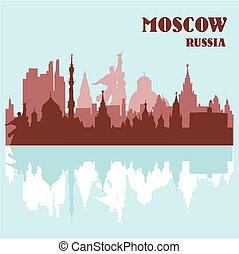 mosca, orizzonte, russia