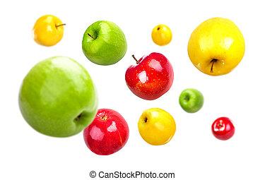 mosca, plano de fondo, rw, caos, manzanas, blanco
