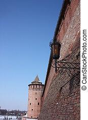 mosca, region., kolomna, cremlino