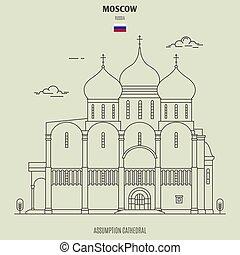 mosca, russia., assunzione, punto di riferimento, cattedrale, icona