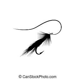 mosca, señuelo, pesca
