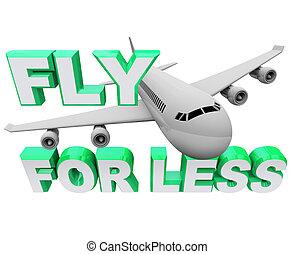 mosca, volo, meno, quando, viaggiare, -, aria, risparmiare, ...