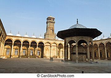 moschea, cairo., maometto, egitto, ali