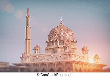 moschea, putrajaya, -, malaysia, putra