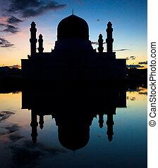 moschea, silhouette