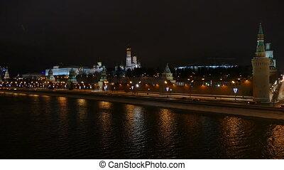 moscou, kremlin, pont