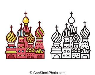 moscou, saint, basilic, cathedral.