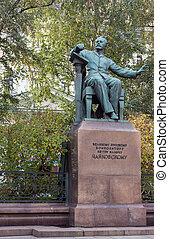 moscou, tchaikovsky, compositor, monumento