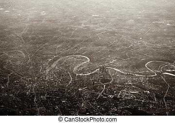 moscou, ville, vue aérienne
