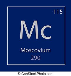 Moscovium Mc chemical element icon- vector illustration
