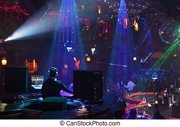 MOSCOW - APRIL 1: Show of popular Dj Vartan in nightclub...