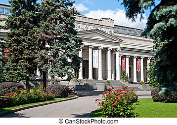 MOSCOW - AUGUST 19: The Pushkin Museum of Fine Arts on...