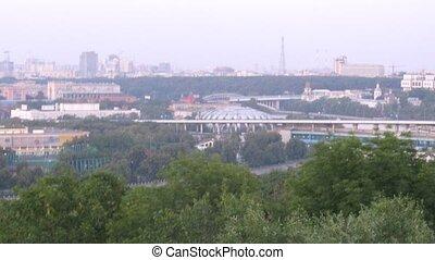 Turn from Luzhnetsky bridge to Sports complex Luzhniki -...