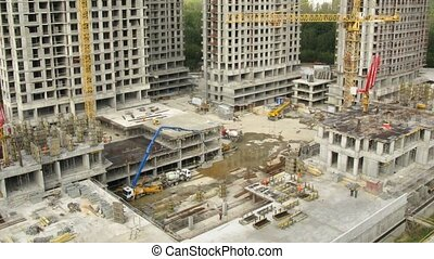 Construction site at Losiniy Ostrov estate - MOSCOW - AUGUST...