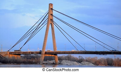 Moscow bridge across Dnieper Kiev Ukraine