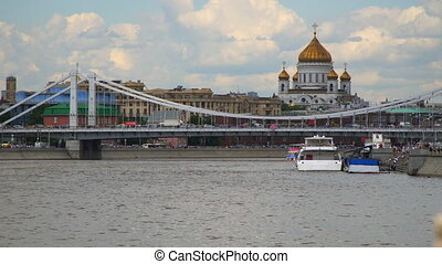 Moscow: Cathedral of Christ the Savior view from the river