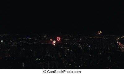 Moscow celebrating Victory Day with fireworks
